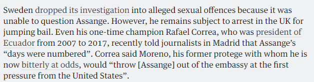 The Guardian Rejoices in the Silencing of Assange - Craig Murray